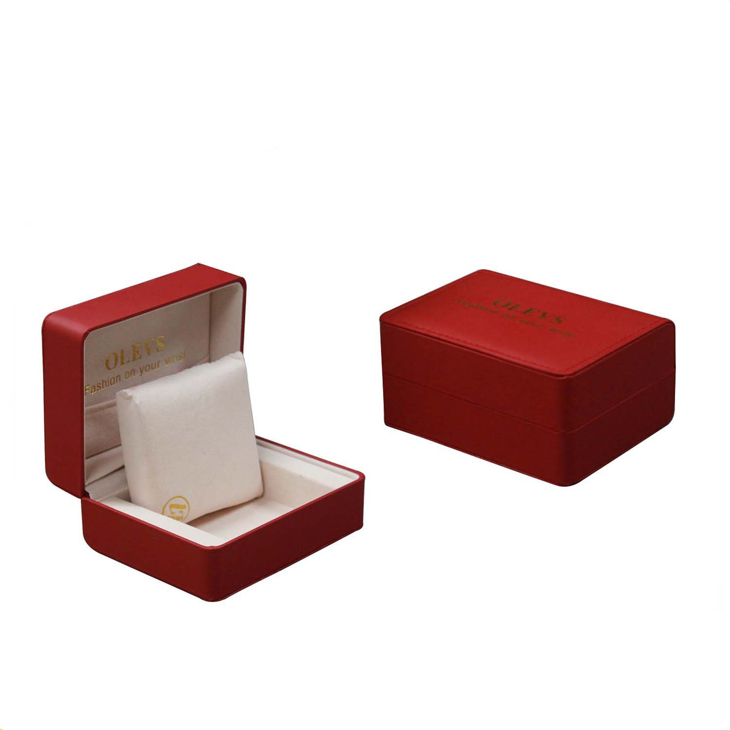 Wholesale chineae red leather watch  bracelet box