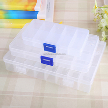10/15/24 Slots Adjustable Storage Box Plastic Case Home Organizer Jewelry Beads Boxes