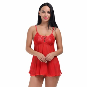 Women Sexy Hot Mesh Babydoll See through Mini Chemise babydoll Erotic Lingerie