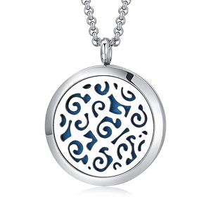 Aromatherapy Designs Necklace Essential Oil 316L Stainless Steel Diffuser Locket for Gift Jewellery