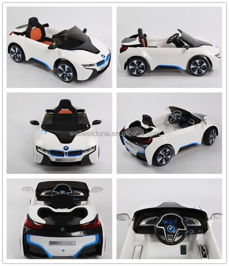 licensed bmw i8 car with remote control ride on toy car kids car wdje168