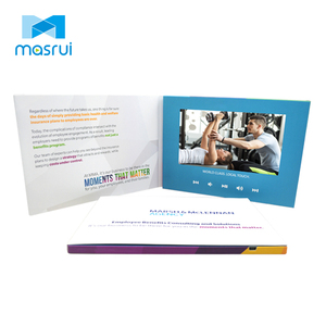 promotional video brochure 2.4 7 10 inch lcd screen wedding invitation business card printing marketing booklet