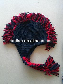 7fb6f0b4d82 Soft Acrylic Popular Knitted Crochet Mohawk Hat - Buy Knitted ...