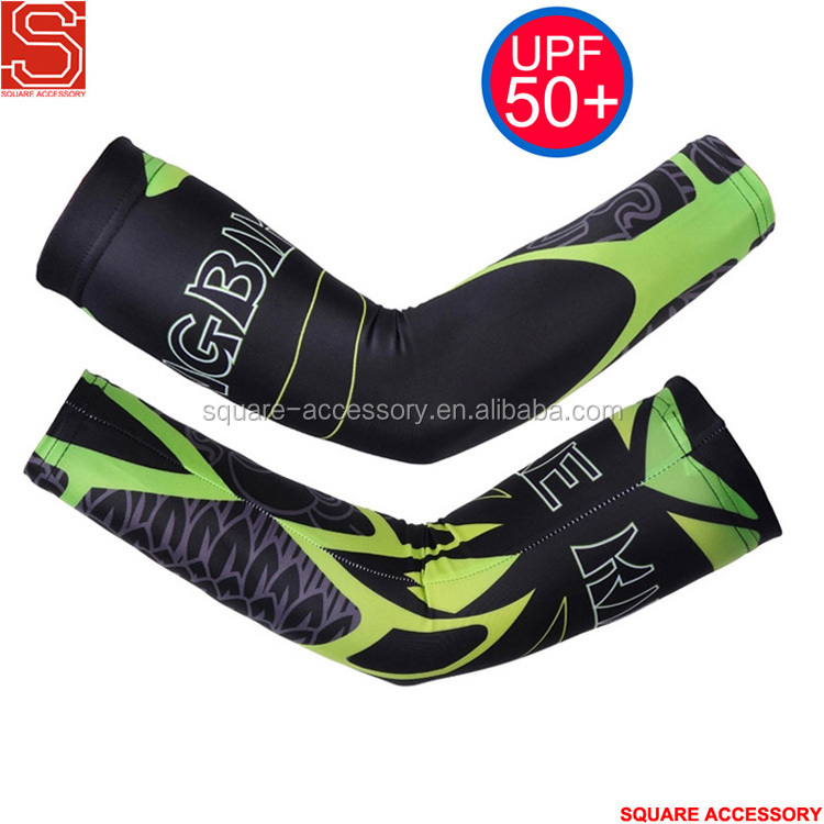 Custom Sublimation Baseball Cycling UV Protect Arm Compression Sleeves