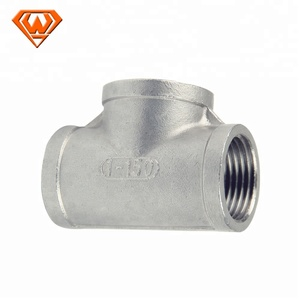 Factory direct stainless steel tee Internal thread equal tee 304 316