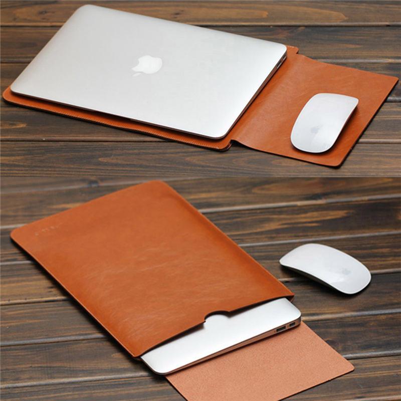2016 for macbook air pro retina 11 12 13 15 inch laptop bag pu leather case sleeve notebook. Black Bedroom Furniture Sets. Home Design Ideas