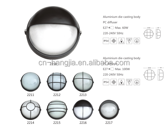 Newest Design ROV Round Shape Led Bulkhead Light Aluminium Base Outdoor Wall Light With High Quality
