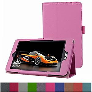 """Acer Iconia One 8 B1-810 / Tab 8 A1-850 Case,Mama Mouth PU Leather Folio 2-folding Stand Cover for 8"""" Acer Iconia One 8 B1-810 / A1-850-13FQ Tablet,Pink"""