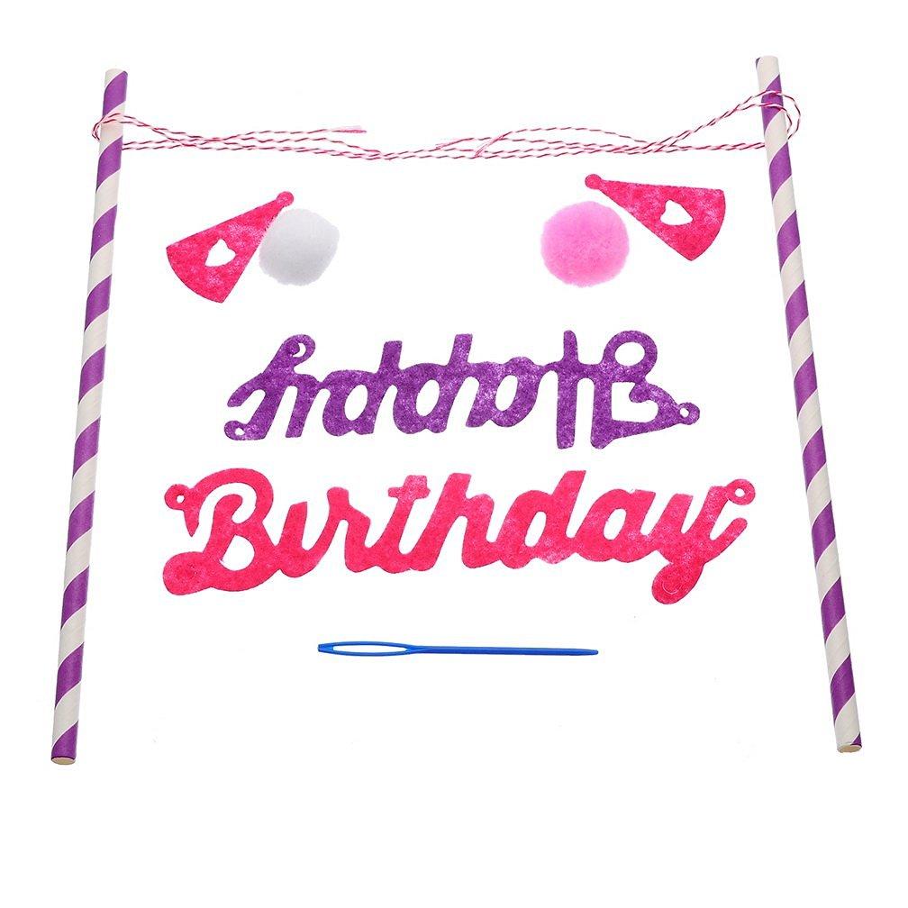 Fantastic Buy Hoomall Happy Birthday Flag Banner Cake Topper Cake Bunting Funny Birthday Cards Online Necthendildamsfinfo