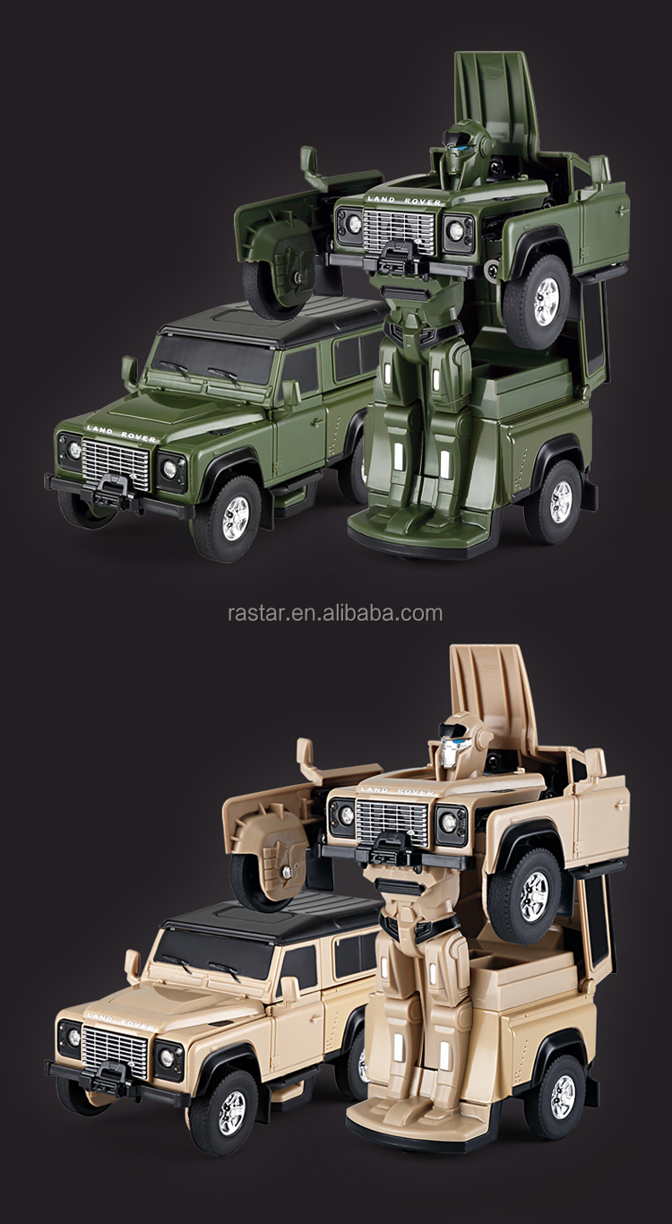 Rastar LED light 1:32 transform robot car toy