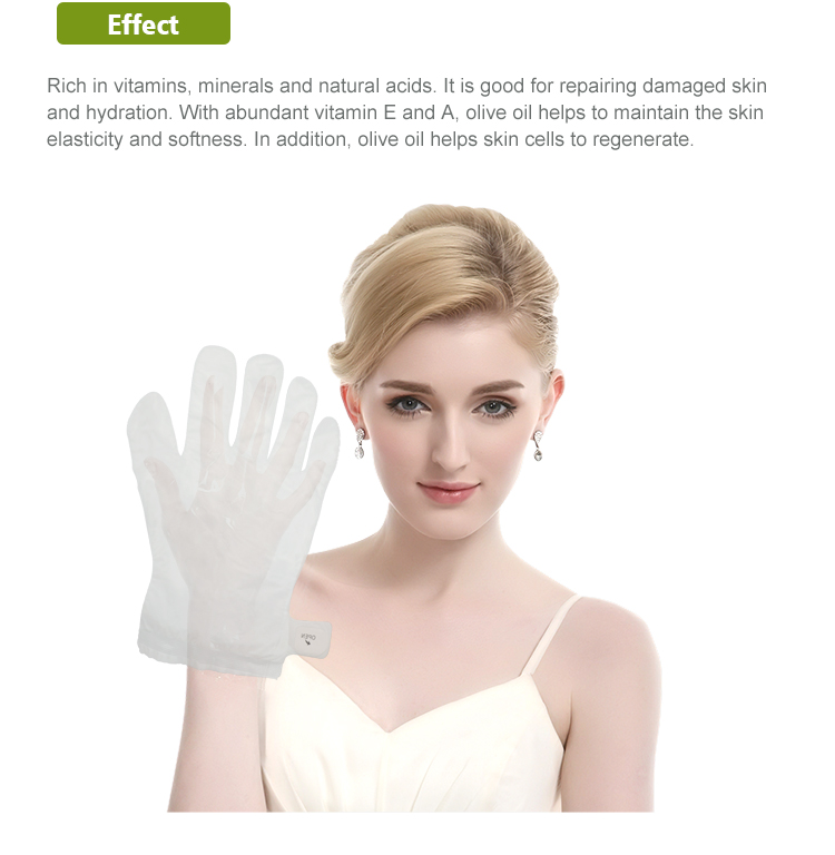 Hot Sale Fashion Skin Care Olive Oil Whitening Hand Mask New Style Custom Sheet Hydrating Hand Mask