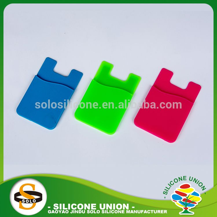 Various types without logo solid color silicone card holder