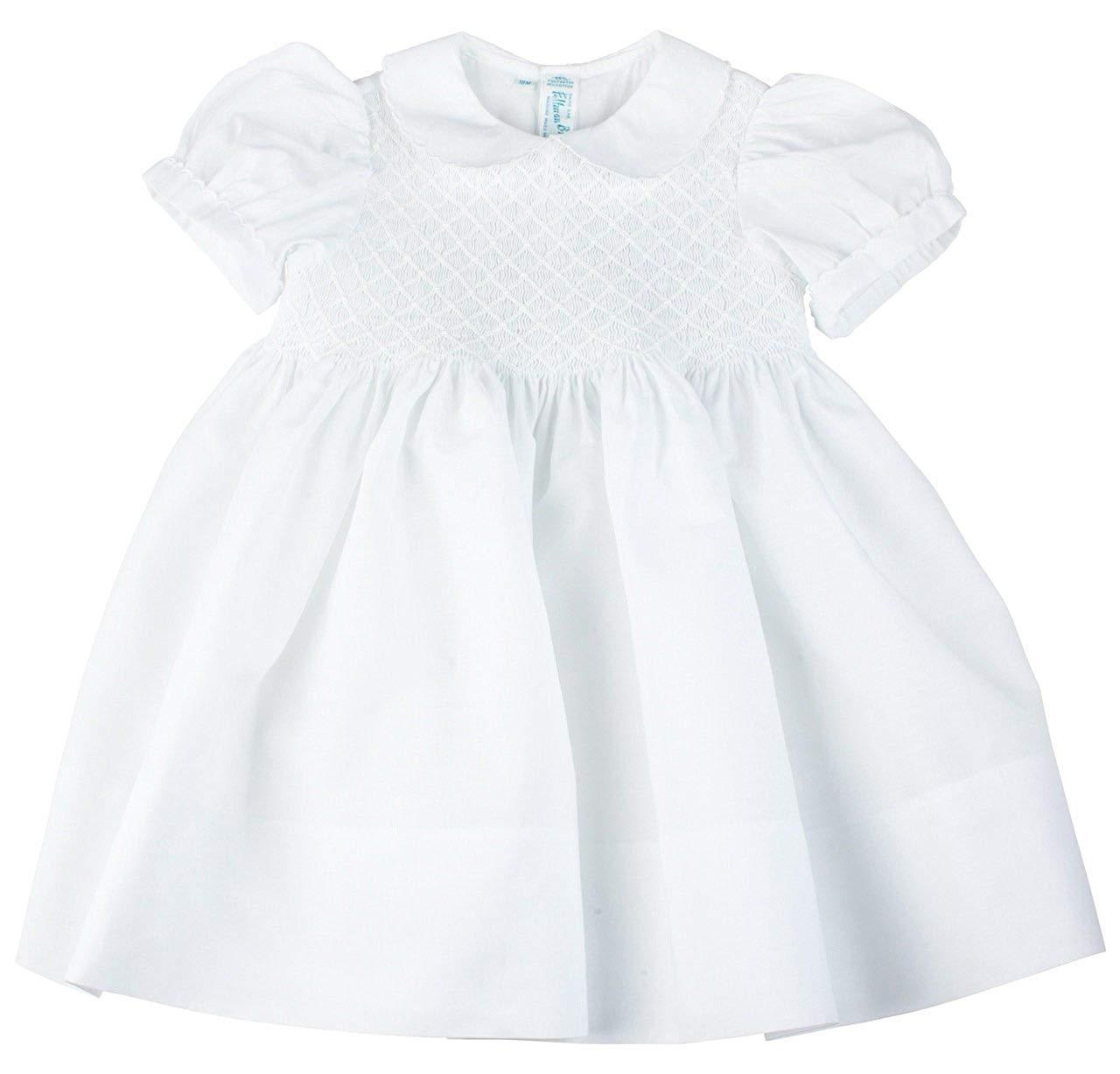 ecb4edd4b4c Get Quotations · Feltman Brothers Girls White Smocked Dress Infant   Toddler