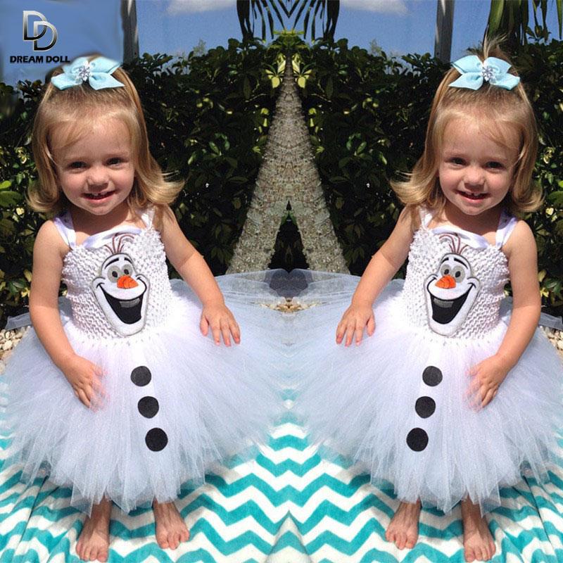 Olaf Tutu font b dress b font for little girls Kids font b Fancy b font