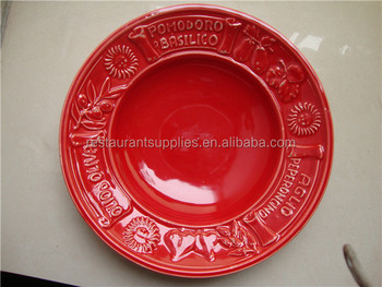 Unique Custom Logo Ceramic Plates Dishes/Red Porcelain Dinner Plate & Unique Custom Logo Ceramic Plates Dishes/red Porcelain Dinner Plate ...