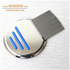 Anti Pet Dog Stainless Steel Metal Head Lice Comb for Pet