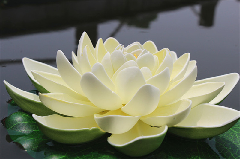 7inch Lotus Leaf 4layers Artificial Flower Manufacturer With Eva