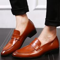 cz18068a New italian brand men pu leather red penny loafers casual flats slip on shoes men casual