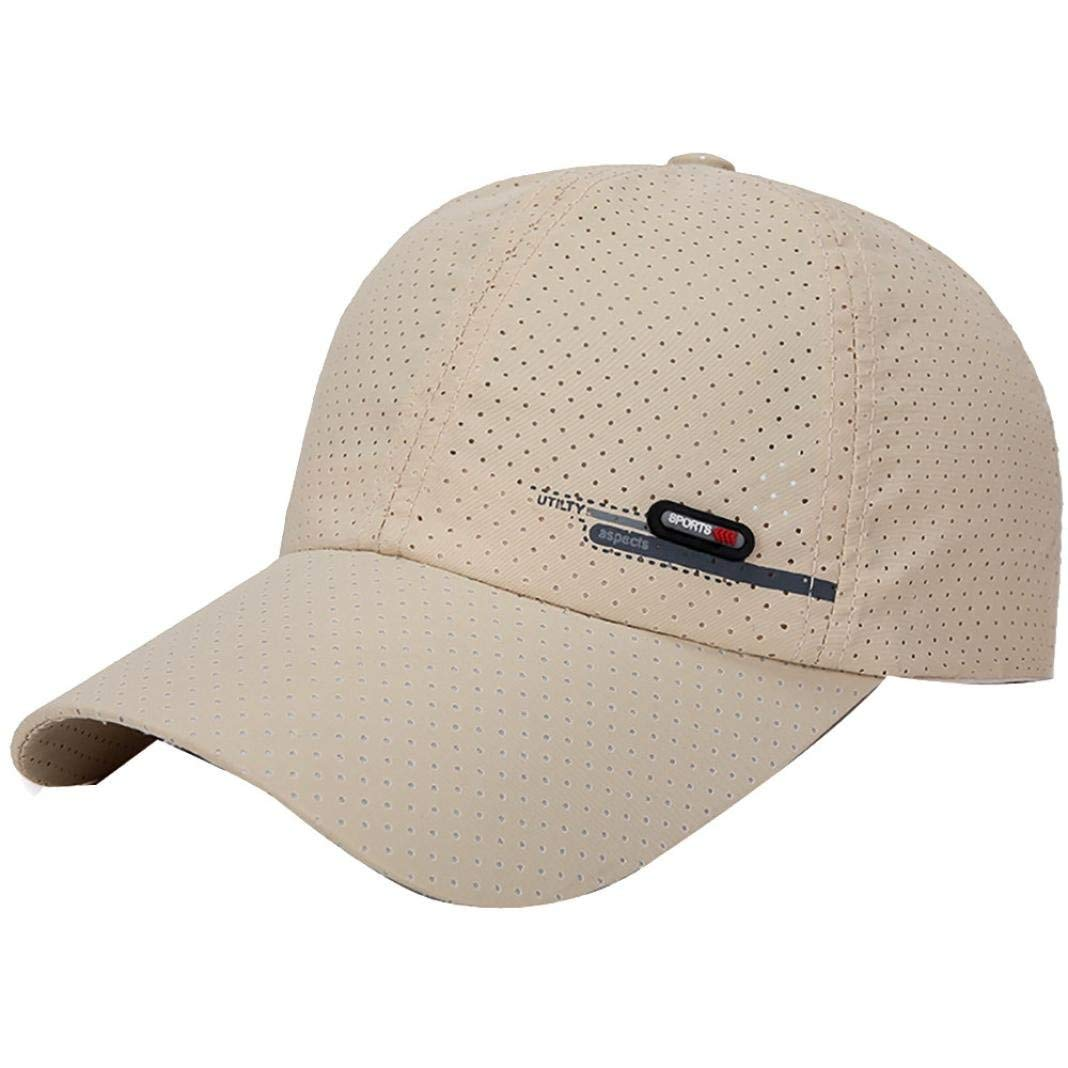5b8c440bfff61 Get Quotations · Men Women Quick-Drying Baseball Cap Golf Running Sports  Breathable Sun Hats