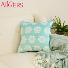Avigers bule snowflake printed pillow case cover lint comfortable sofa chair cushion cover fabric for car seat