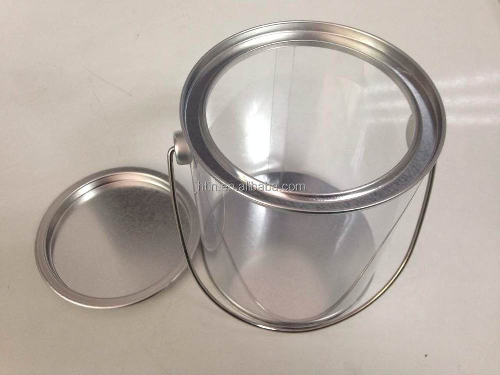 Clear Paint Cans/Clear Craft Pails with handle