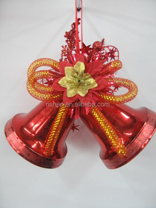 Decoration Large Gold Plastic Christmas Tree Bells ...