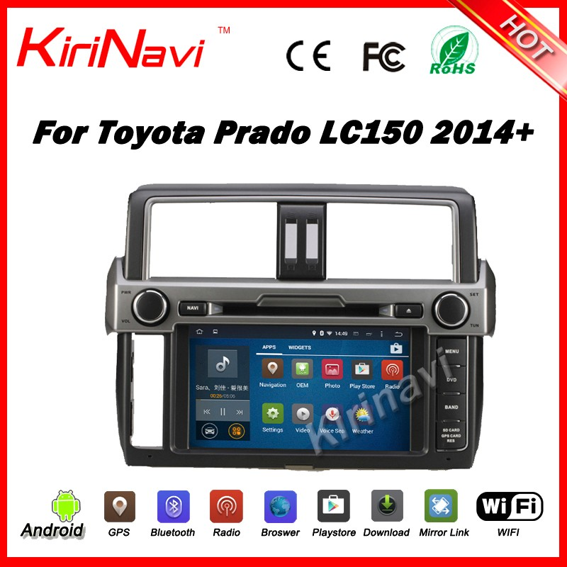 Kirinavi WC-TP9007 android 5.1 navigation gps for <strong>toyota</strong> <strong>Prado</strong> 2014 2015 2016 car dvd player multimedia system wifi 3g bt