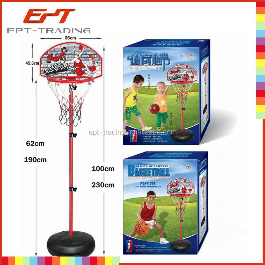Hot selling kids plastic mini basketball hoop stand
