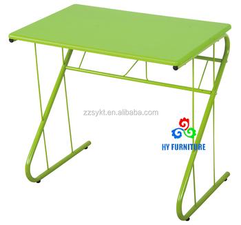 Beau Simple Design Metal Frame Wooden Computer Desk Tables For Home Or Office    Buy Metal Frame Computer Tables,Wooden Computer Table Design,Steel Frame ...