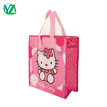 2a69db6158 Cheap Price Custom hello kitty Printed Eco Friendly Tote Grocery Shopping  Fabric Laminated Recyclable Non Woven