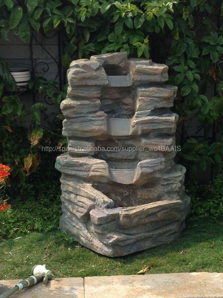 Cascadas para piscinas decoraciones de jard n for Cascadas de piedra para jardin