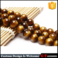 12mm Natural Undyed Semi Precious Loose Stone Tiger Eye Beads, Big Size Tiger Eye Sphere Custom
