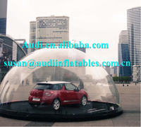 customized capsule Inflatable bubble transparent car cover tent,inflatable clear car show tent,vehicle capsule