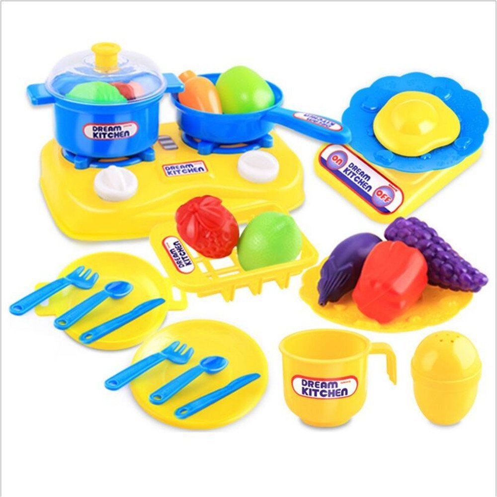 Kids Kitchen Play Toys Cooking Pots