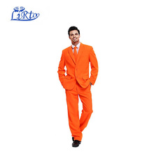Mannen Party <span class=keywords><strong>Pak</strong></span> Effen Kleur Leisure Suit voor Holiday Party Jas met Tie en Broek