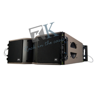 professional audio array line speaker and sound system wtih monitor subwoofer for stage truss hanging display