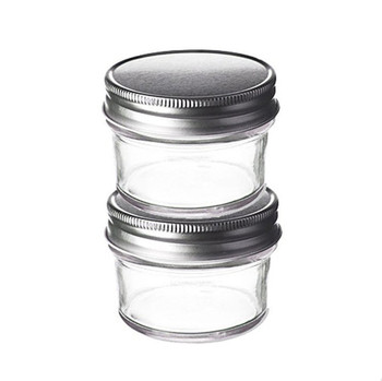 Wholesale 4oz 8oz10oz Smell Proof Tapered Glass Mason Jar Stash