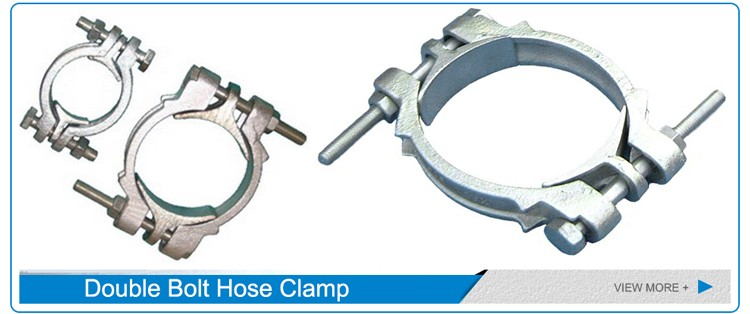 High quality types of double bolt hose clamp buy