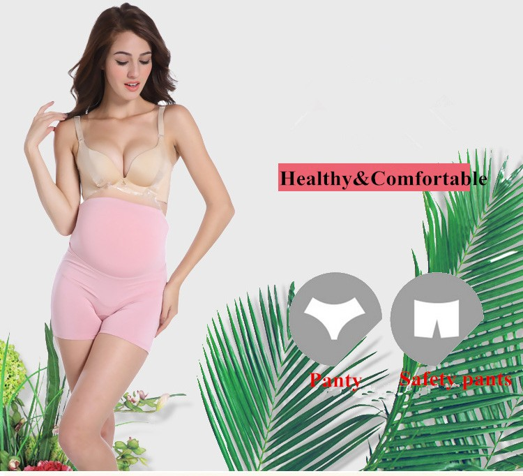 100% Cotton Pregnant Render Safe Pants Support Abdomen Adjustable Maternity Panty
