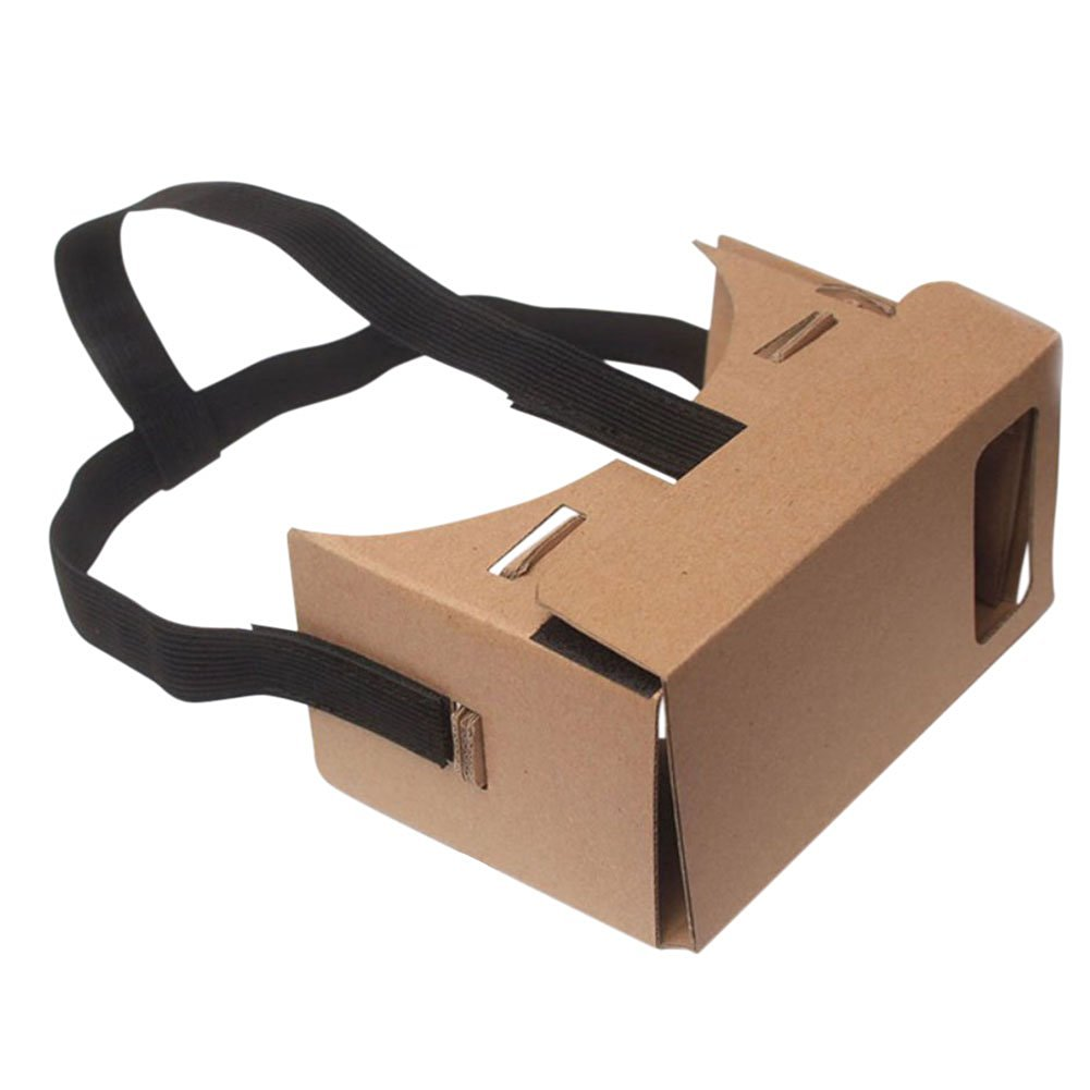 Topbeu New DIY Google Cardboard 3D Vr Virtual Reality Glasses With NFC and Headband Head Strap 6 Inch 5 Inch