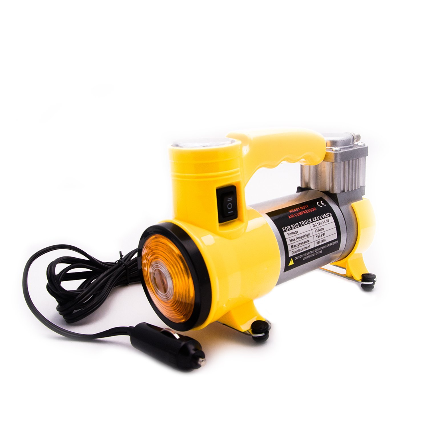 12V DC Portable Air Compressor Pump, Portable Auto Air Compressor Cigarette Lighter Chage Mini Car Air Compressor Portable Tire Inflator & Pump Tool