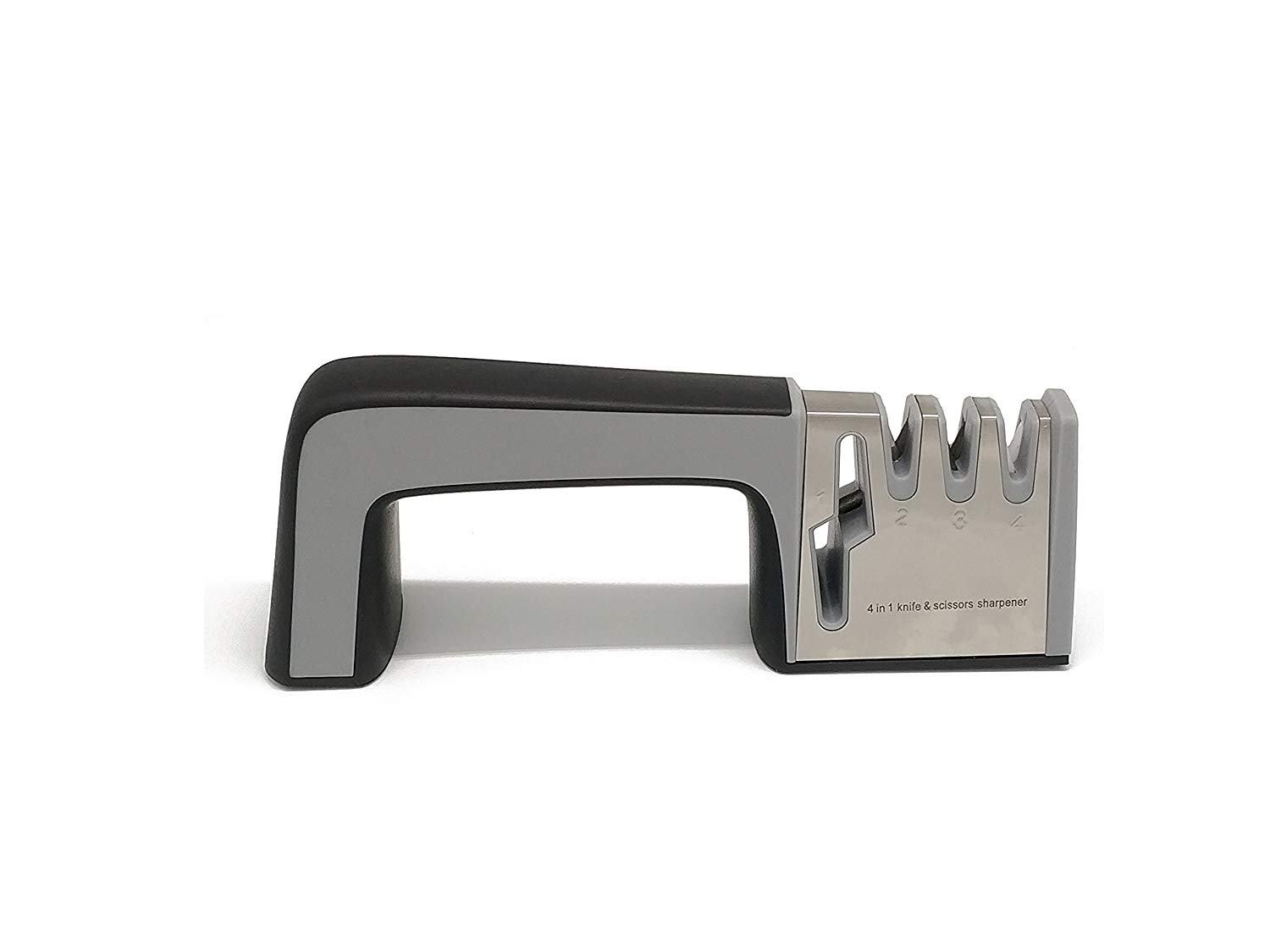 AMINNO Kitchen & Outdoor Knife Sharpener 3 Stage Professional Knife-Sharpen Steel in All Sizes (black)