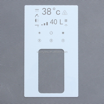 5b1a04d7c4 new style switch panel glass with half mirror effect hotel electric remote  control panel tempered glass
