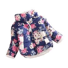 Teplá květovaná jarní bunda pro holčičku z Aliexpress