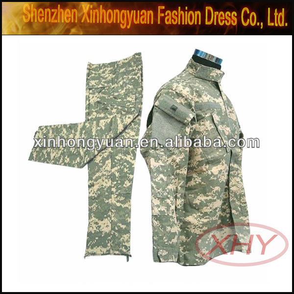 Military acu camo clothing with plus size