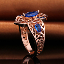 Wholesale 18K Rose Gold Filled Oval Gemstone Jewelry Rings