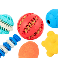 Free Sample Rubber Chew Teething Squeaky Pet Toy Dog Ball