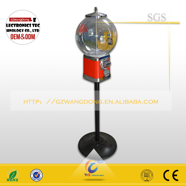 Coin operated automatic vending machine for gumball vending machine for sale