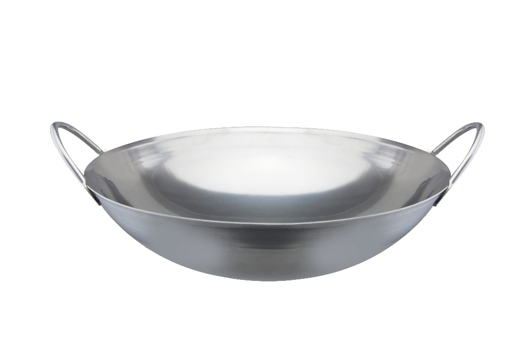 stainless steel cooking wok dry pan stainless steel round bottom wok buy stainless steel round. Black Bedroom Furniture Sets. Home Design Ideas