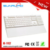 Universal Ultra thin ABS Wired office furniture Keyboard for imac Tablet PC 104 Keys Desktop Computer Retail Packaging